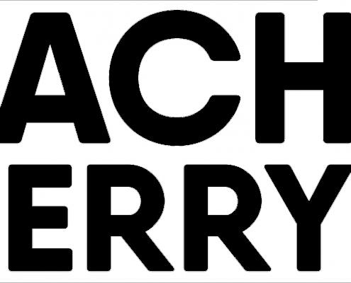Peach & Cherry Logo weiss